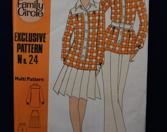 Family Circle 24 for a Woman's Tunic, Skirt and TrouserPattern in Sizes 10 & 12