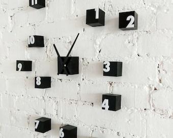 """Wooden wall clock """"Cubes"""""""