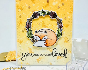 Handmade Card - Watercolor - You Are So Very Loved