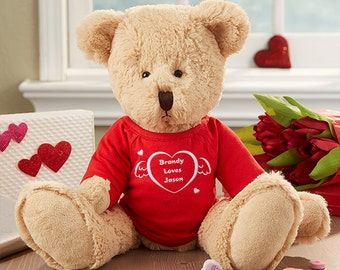 I Love You Personalized Heart Teddy Bear
