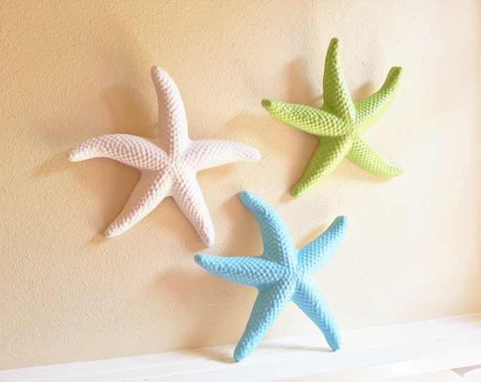 Featured listing image: Starfish wall decor, beach decor, seashells, large starfish, coastal decor items