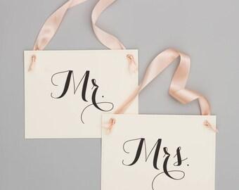 Mr. + Mrs. Signs