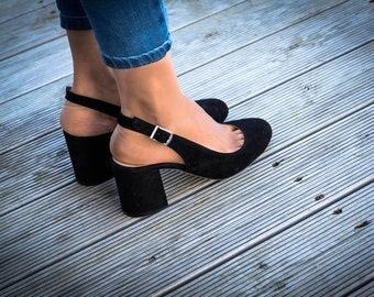 """Pump shoes """"Charming Charisma"""" ,round toe pump, heeled shoes, leather shoes, leather pumps"""