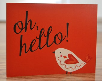 Just a Little Note... / Hello Birdie Stationery / Note Cards - Set of 12