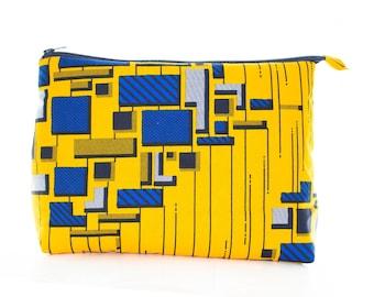 African Print Makeup Bag - Toiletries Bag - Multi Pencil Bag - African Wax