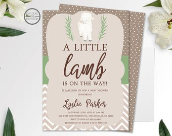 Exceptional Little Lamb Baby Shower | Spring Baby Shower Invitation | Gender Neutral Baby  Shower Invitation |