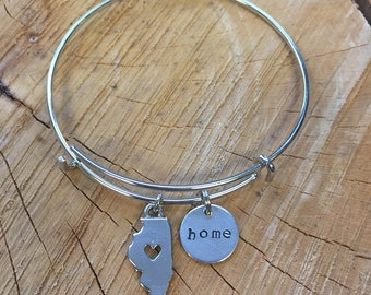 The Joyce Bracelet - Illinois Home Bracelet