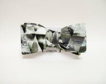 New Spring & Summer Accessories - Broken Mirror Landscape print freestyle bow tie