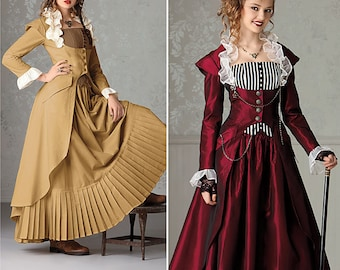 Simplicity Pattern 2172-Steampunk Coat, Corset and Skirt Size 6-12