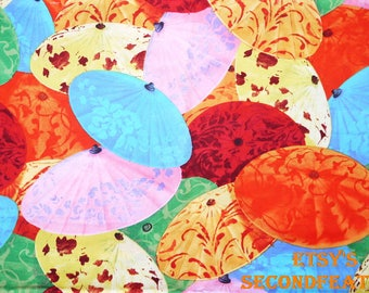 Old Chinese Umbrella - David Textiles - 100% Cotton Fabric - 1/2 Yard - more for one cut - B10