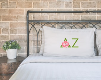 Delta Zeta pillow case, Delta Zeta pillowcase, DZ pillow case, sorority gift, pledge gift, big little, sorority pillow, back to college gift