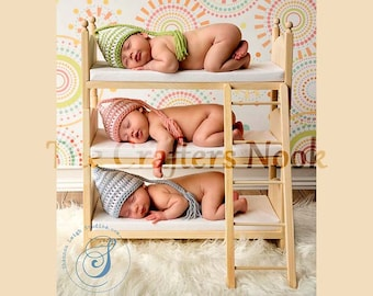 Newborn Photo Props * Baby Doll Bed * Newborn Props * Baby Shower Gift for Triplets * Photography Props * Posing Beds * DIY Baby Beds