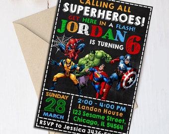 Superhero Invitation, Superhero Birthday Invitation, Superhero Birthday, Superhero Party, Superhero Invite, Superhero Printable, Superhero