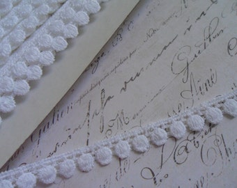 Classic White Ball Venise Lace Trim, approx 3/8 inch wide