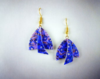 OOAK Polymer Clay Earring. Retro Earrings are Handmade Earrings. This is the Perfect Dangle Earring Gift for Women.