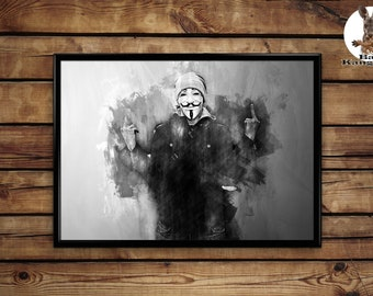 Anonymous print wall art home decor poster