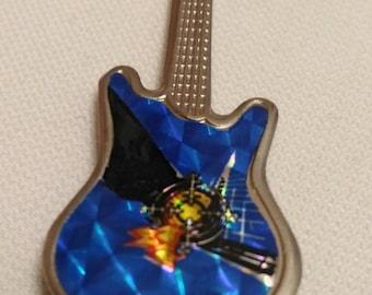 Def leppard , vintage 80s  guitar pin . Pyromania !!