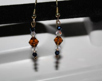 5 Bead Drop Earring