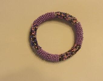 Seed Bead Tube Bracelet