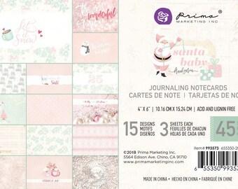 Prima Marketing Santa Baby 4x6 Jounaling Cards