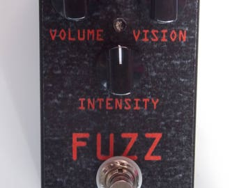 Fuzz Vision MidValleyFx Handwired Guitar Pedal Heavy Effects Unique Effect USA Original Design Music Player Gift Noise FuzzBox PNW Octave Up