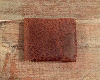 Leather Wallet, Men's Wallet, Minimalist Wallet, Slim Wallet, Bifold, Top Grain Leather