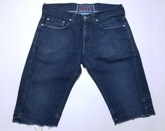 Levis Cut Off Blue Denim Pants Shants 511  30-31
