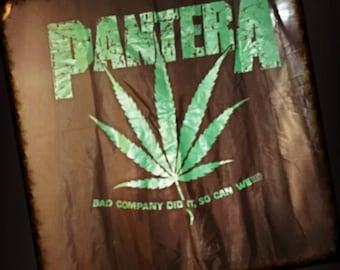 1993 Pantera Bad Company Did It So Can Weed Silk Flag, 42 X 45, XXL, 93 Pantera Band Weed Flag, 1993 Vintage Pantera Authentic Weed Banner