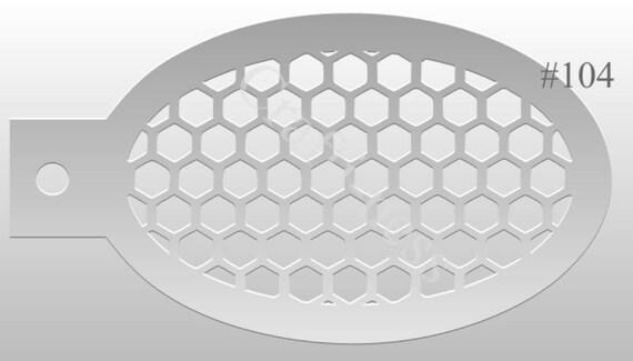 Crafti-Ness 104-Muster-Waben-Schablone