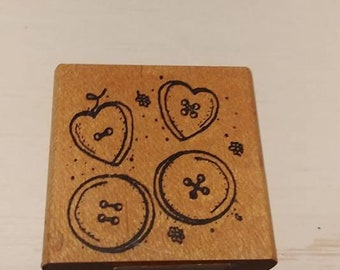 Rubber Stamps  - Buttons