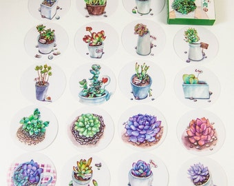 40 Sticker set/cacti/DIY Filofaxing scrapbooking Aufkeber