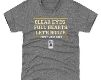 Friday Night Lights Youth Shirt | Tim Riggins | Kids T-Shirt | Clear Eyes. Full Hearts. Lets Booze. Wht