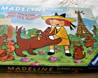 Ravensburger Madeline Game Help Madeline Find Her Puppies 1992 Germany Made Madeline Searches For Genevieve's Puppies in Paris M Bemelman