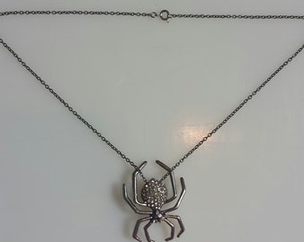 Metal Spider Necklace