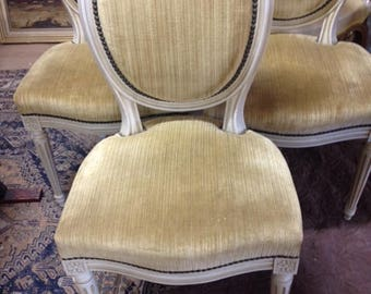 Antique French Louis dining set / chairs/ furniture
