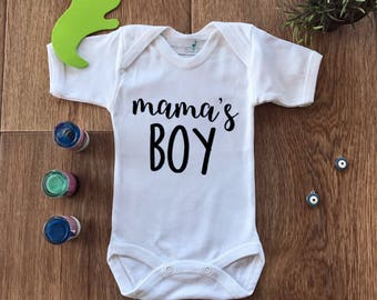 Cute Boy Onesies, Mama Boy Onesie, Mamas Boy Onezie, Baby Boy Outfit,Funny Outfit,Baby Boy Clothes,New Born Boy,Boy Baby Shower,Newborn Gift