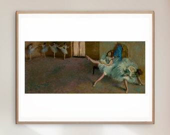 Edgar Degas - Before the Ballet by - Giclee Print