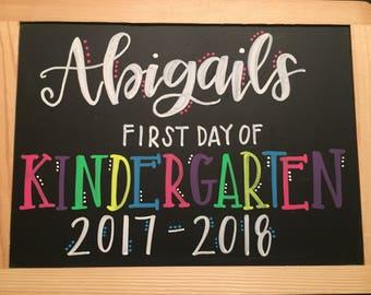 Custom Back-to- School Chalkboard