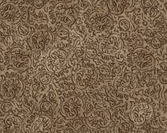 Classic Remington Brown Scroll 24063A from Quilting Treasures by the yard