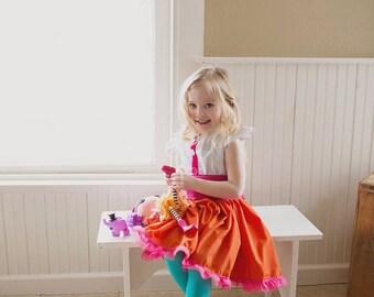 Lalaloopsy Dress, Peanut Big Top Dress, Peanut Big Top Costume, Lalaloopsy Peanut Big Top Dress, Lalaloopsy Birthday Dress, Peanut Big Top