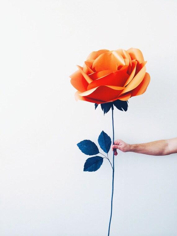 Single Paper Rose Bouquet Large Paper Flower Unique
