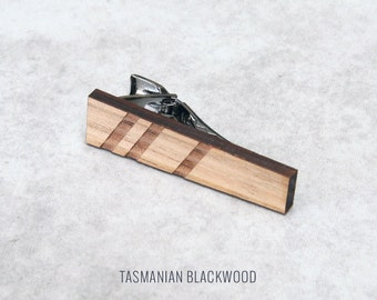 Minimalist Timber Tie Clip | Wood Tie Clip | 5th anniversary gift | Groomsmen Gift | Gifts for Him | Graduation Gift | Groom Gift | Gift Dad