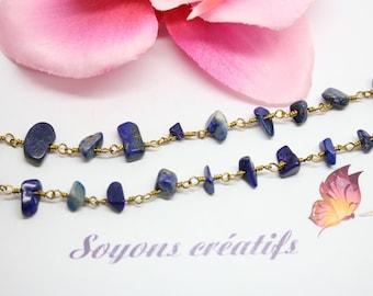 50 cm chain Lapis Lazuli irregular stones - creating jewelry-