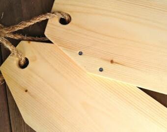 "Large Wood Tags 18""x7"""