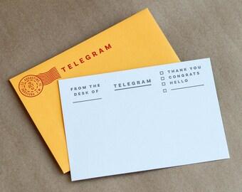 Telegram Notecards