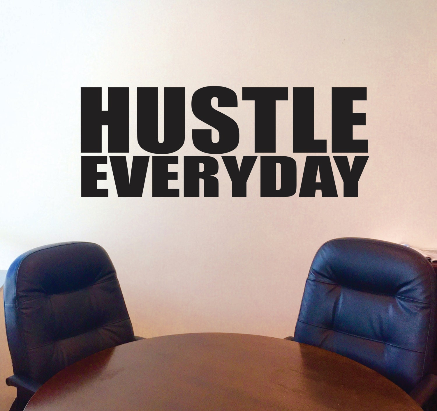 office wall decal. Hustle Everyday Wall Decal, Motivational Inspirational Office Decor Decal .