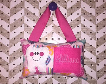 Girlie Hearts Tooth Fairy Pillow - FREE SHIPPING
