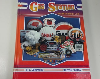 GAS STATION MEMORABILIA Hardback Book, 1995, Vintage Value and Indentification Guide to Automotive Collectibles