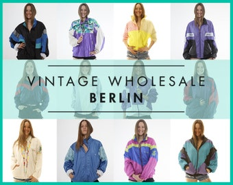 Please contact us before you order ! Vintage SHELL WINDBREAKER JACKETS, Sports, Mixed lot x 10 items, wholesale, 80s, 90s, ready for resale