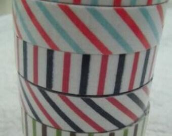 Wholesale LOT : 6 Rolls of  Decorative Adhesive Fabric Tape Oblique Line